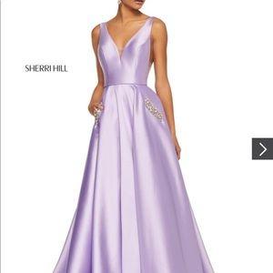 Sherri Hill Lavender Ball Gown Prom Dress